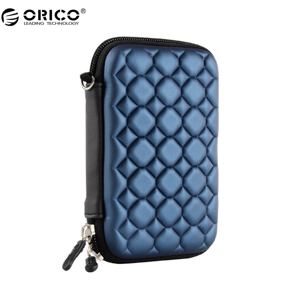 ORICO Внешний жесткий чехол для хранения HDD SSD сумка для 2,5 дюймов жесткий диск MP3 MP4 Card Reader для наушников кабели чехол сумка-синий ...