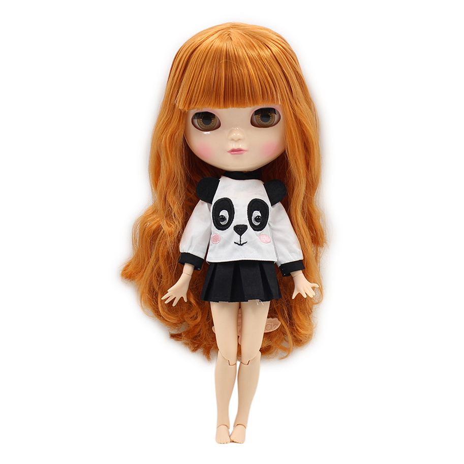 Free shipping fortune days ICY DOLL with small breast joint body azone body orange hair BL0145 30cm цена и фото