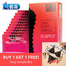 MingLiu Condoms 10Pcs Small Size 49mm Tight G Spot Stimulate Spike Dotted Condom for Men Sex Toys Products Natural Latex condom