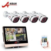 ANRAN 4CH Plug And Play 2 0MP POE NVR CCTV Kit 12 LCD 1080P HD Outdoor