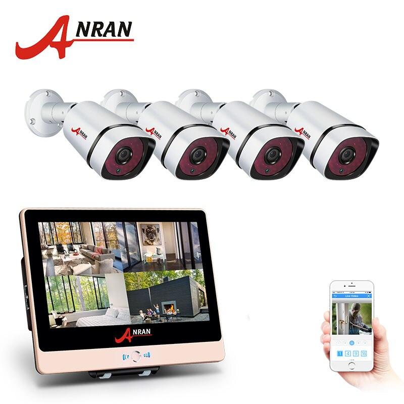ANRAN 4CH Plug And Play 2.0MP POE NVR CCTV Kit+12