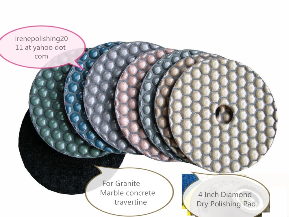 4 Inch Diamond Polishing Pad 20 PIECE Travertine Granite Concrete Stone Marble