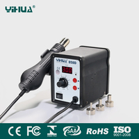YIHUA 858D 650W Hot Air Gun ESD Soldering Station LED Digital Desoldering Station 110V 220V EU
