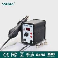 YIHUA 858D 650W Hot Air Gun ESD Soldering Station LED Digital Desoldering Station 110V 220V EU