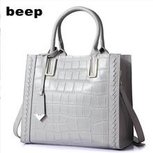 Beep 2018 yeni dalga Kore versiyonu vahşi Messenger çanta Deri bayanlar büyük kapasiteli omuz tote çanta