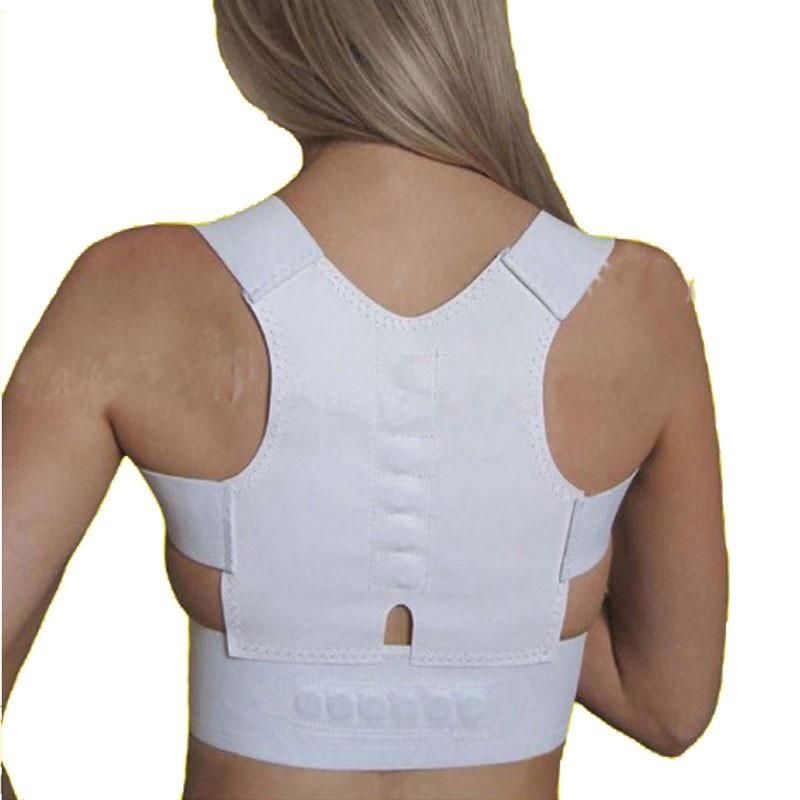 Das Mulheres dos homens Magnética Postura de Volta Corrector Ombro Suporte Brace Suporte Para as Costas Ortopédico Corset Voltar Corrector AFT-B001