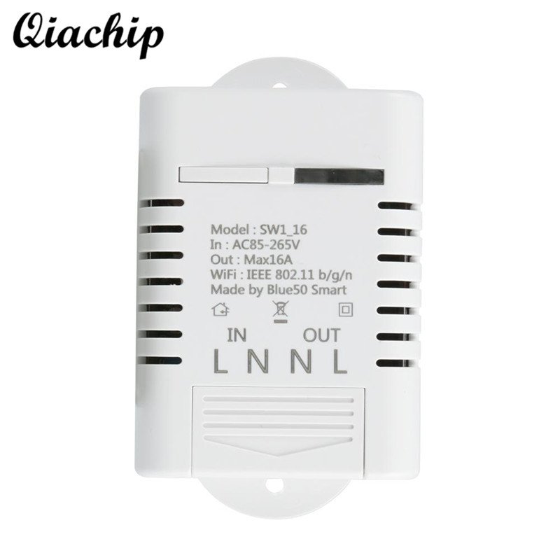 QIACHIP WiFi Remote Control Switch For Smart Home Light LED Switch Remote Control Switch Socket Work With Amazon Alexa Outlet keyshare dual bulb night vision led light kit for remote control drones