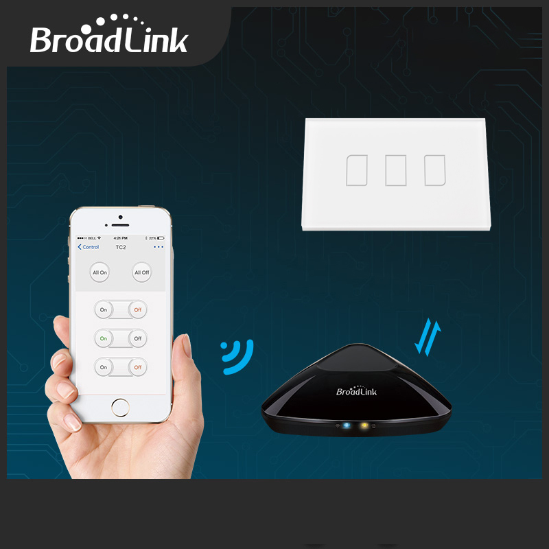 Broadlink Tc2 Us Au Standard 3 Gang 1 Way Wifi Controlled