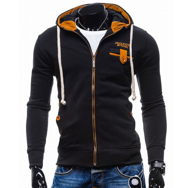 T-Bird Male Hooded Zipper Sweatshirt Men Hoodies