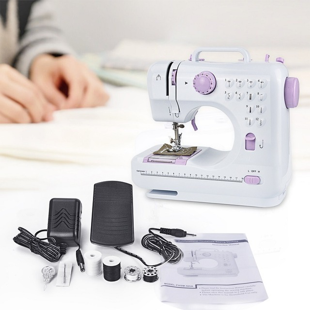 Mini 40 Stitches Sewing Machine Household Multifunction Double New Sewing Machine Free Arm