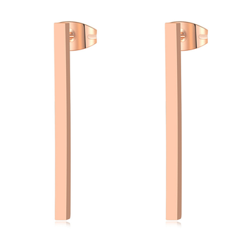 ZMZY New Simple Bar Earrings for Women Rose Gold Color Stainless Steel Geometric Square Stud Earring.jpg 350x350 - ZMZY New Simple Bar Earrings for Women Rose Gold Color Stainless Steel Geometric Square Stud Earring Jewelry Wholesale Gifts