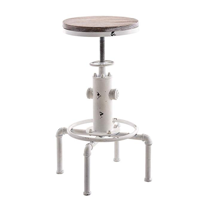 Bar Stools Industrial Metal Adjustable Height Chair Fire Hydrant Design Bar Stool Chair Kitchen Swivel Dining Chair bar chairs antique industrial design pu leather bar stool round seat adjustable swivel bar stools in exterior house design