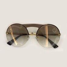 Moda vintage Gafas de sol marca diseñador de alta calidad oculos de sol  femenino retro 2018 sin rebordes de alta calidad Sol Gaf. 5b6712666fa6