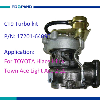 supercharger turbocharger turbo parts 17201 64090 for Toyota Hiace Hilux with 3C-TE 3C-T 3CTE diesel engine 2.2L 8V image