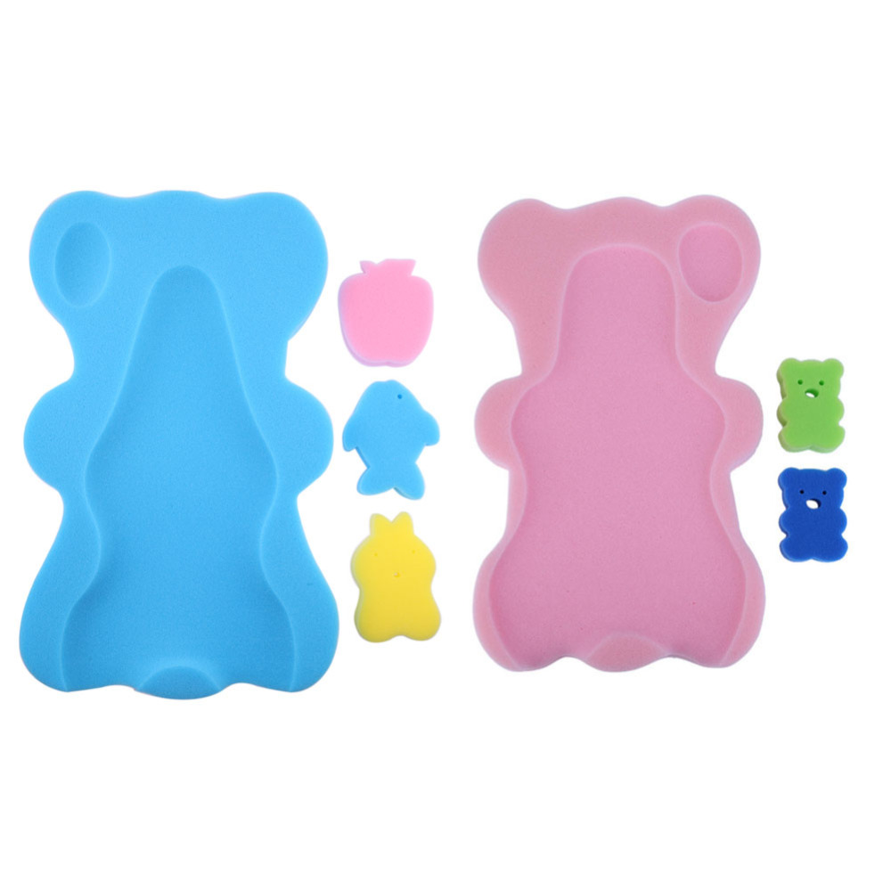 New Baby Bath Sponge Mat Non-slip Sponge Mat Cute Cartoon Bath Mat ...