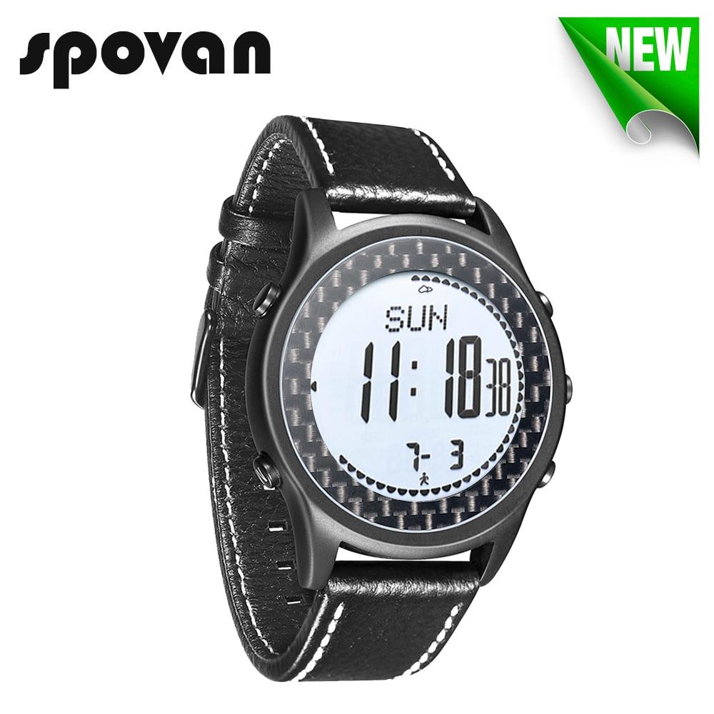 71cca9a4795 Reloj Hombre SPOVAN hombres deporte Reloj impermeable LED brújula altímetro  podómetro Digital Reloj Saat Relogio Masculino