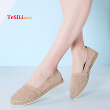 2019 Spring New Women Ballet Flats Shoes Suede Leather Breathable Slip On Loafers Mocassins Creepers Oxfords Shoes Woman Elegant