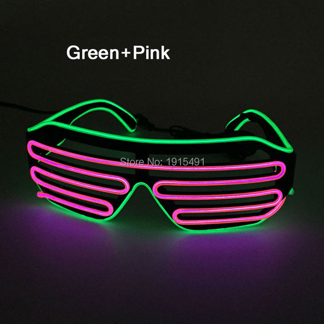 Hot Newest Style Graduation Party Decor El Wire Sunglasses