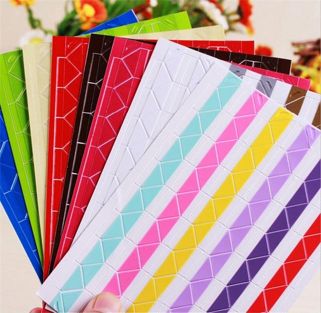 Hot! 5 Sheet DIY Photo Album Scrapbook Corner Sticker PVC Colorful ...