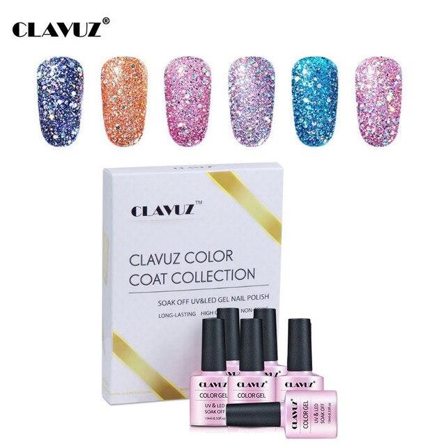 Aliexpress Com Buy Clavuz Gel Nail Polish 6pcs Glitter Gelpolish