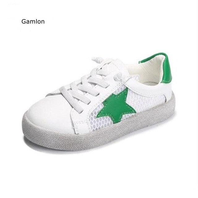 dbe02a6726d9 Gamlon Cuoio Genuino Scarpe Sportive Ragazza 2017 Estate Autunno Nuovo  Traspirante scarpe da Ginnastica Per Bambini