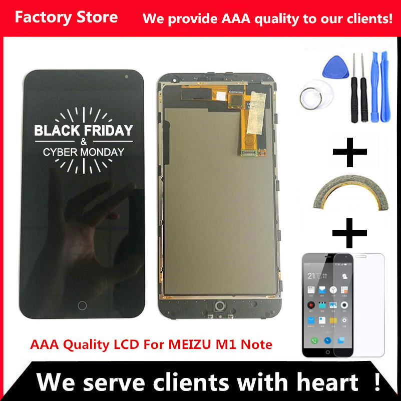 Q&Y QYJOY AAA Quality LCD+Frame For MEIZU M1 NOTE Lcd