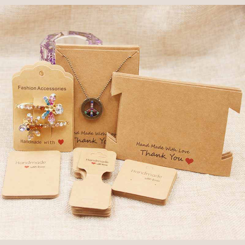 Zerong Jewelry 200pcs DIY Handmade Jewelry  Package Cards,Necklace/Earring/Hairclip /Pendant/bracelet /charms Jewelry Tag Card