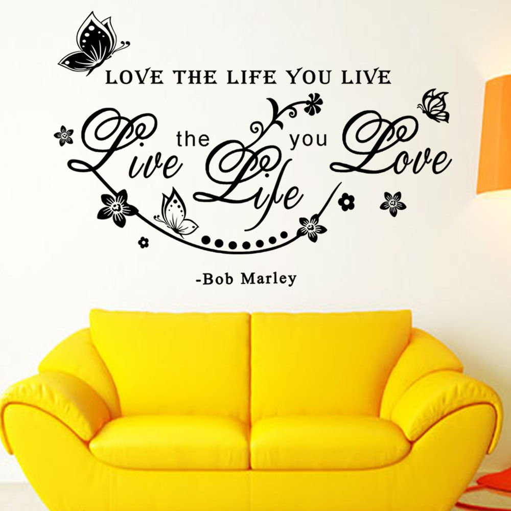 Bob Marley Quote Wall stickers For Bedrom Room Cafe Room Decoration ...