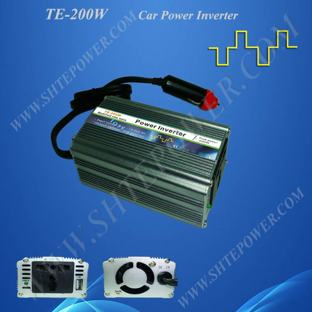 12VDC to 220VAC Car Power Inverter 200watts gb4045d to 220