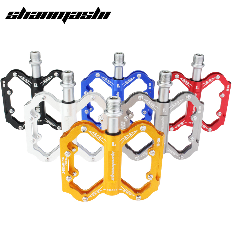 SMS Bicycle Pedals Aluminum Alloy MTB Road Bike Cycling Parts Bicycle Pedals Bearing Pedal Fixed Gear Ultralight Slim Pedal scudgood triple bearing aluminum alloy cnc bicycle pedal road mtb bike