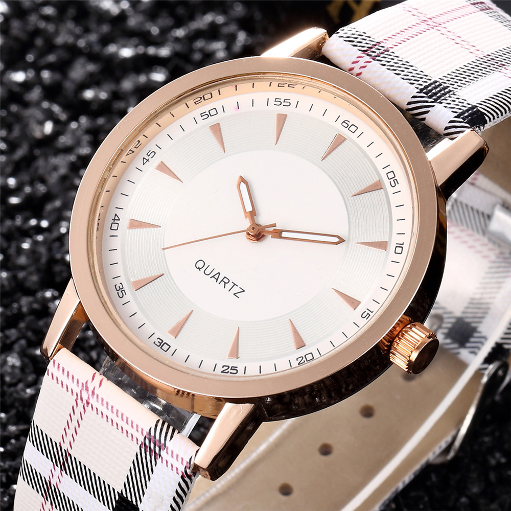 Women Watches 2017 Brand Luxury Fashion Quartz Ladies Watch Plaid Clock Rose Gold Dial Dress Casual Wristwatch relogio feminino fashion brand v6 quartz women watches rose gold steel thin case classic simple dial leather strap ladies watch relogio feminino