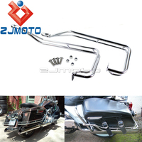 1 Set Motorcycle Saddlebag Guard Rail Kit For Harley Road King Electra Glide Road Street Glide 2009 2013 FLHR FLHTC FLHX FLTR