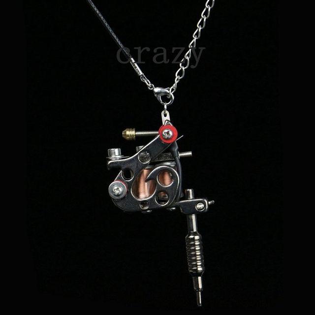 1pc fashion mini tattoo machine jewelry pendant black cool tattoo 1pc fashion mini tattoo machine jewelry pendant black cool tattoo machine necklace with key chains aloadofball Images