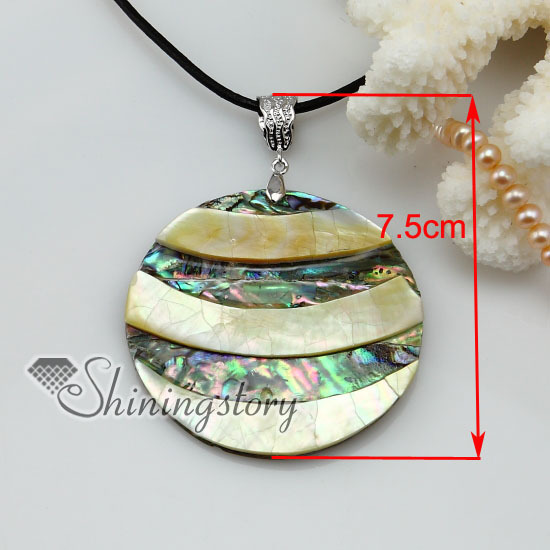 round patchwork seawater abalone yellow seashell mother of pearl oyster sea shell pendant necklaces 2013 ladies fashion jewelry