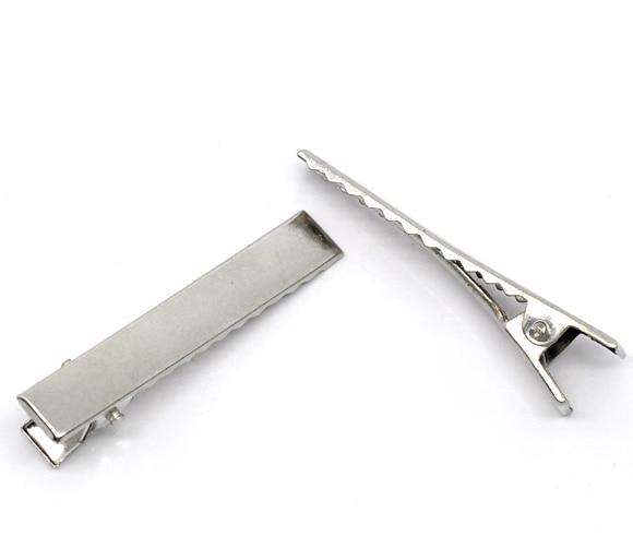 Initiative Doreenbeads 50 Silver Tone Prong Barrettes Hair Clips 46x8mm b10403 Yiwu