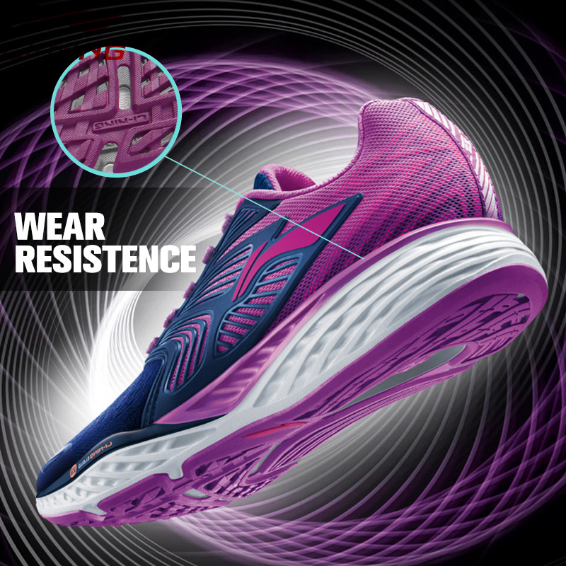 Li-Ning Women's LN CLOUD IV PLUS Running Shoes Professional Cushioning Breathable Sneakers LiNing Sports Shoes ARHM026 XYP541 li ning men s fission iii wade professional basketball shoes lining cloud sneakers breathable sports shoes abam025 xyl109