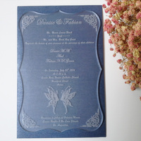 Customized Sample For 5 7inch Frosted Acrylic Wedding Invitation Card