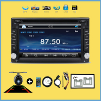 Car Multimedia Player GPS 2 Din 7 Inch For Universal dvd player with steering wheel control usb sd car logo rear view camera