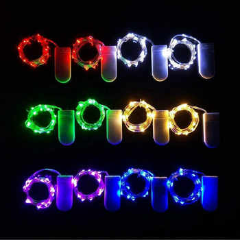 DHL 100pcs Button Battery Power garlands lamp 2M 20LED LED Fairy String Light Strip For xmas Party Wedding decoration lighting
