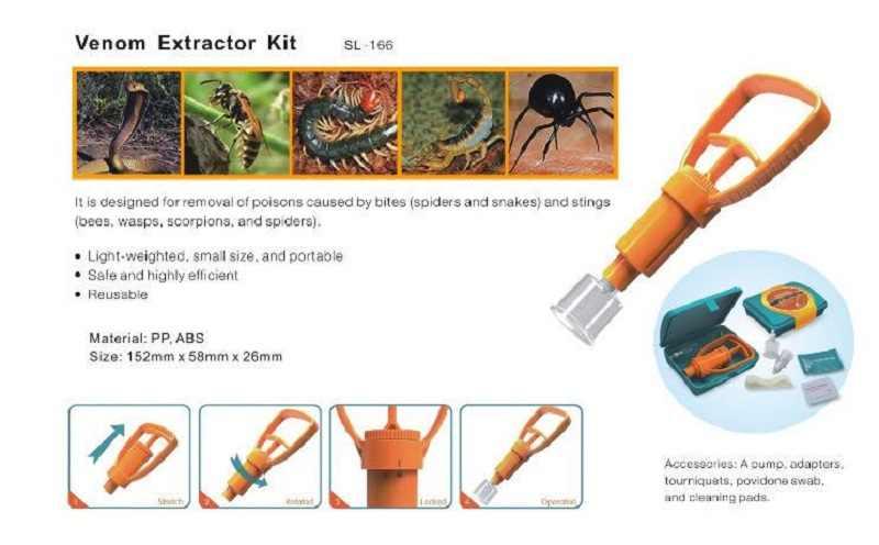 屋外サバイバルレスキュー緊急安全ツール毒抽出救急箱野生 Vipers 蜂かむ毒真空抽出ポンプ