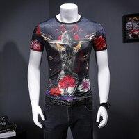 Summer Men S 3d Tshirt Print Flowers And Belle Short Sleeve Hip Hop Tops Tees Streetwear