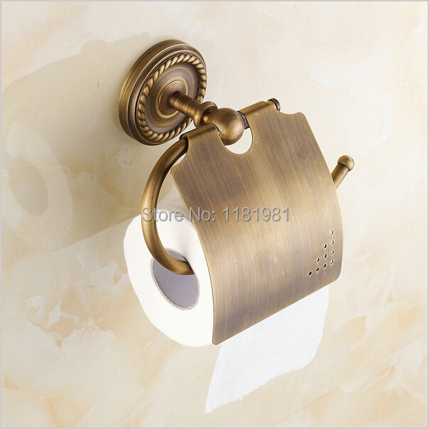 discount freight wall mounted antique brass finish bathroom accessories paper holder 9006china mainland