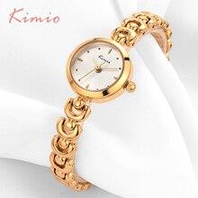 KIMIO Unique U Bracelet Sangle Petit Cadran Rond Femme Montres 2017 Marque De Luxe Mode Quartz Or Whatch Femmes Montre-Bracelet Réveil