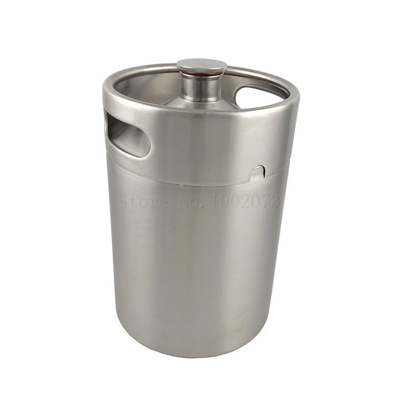 5L 169oz Stainless steel Mini Beer Keg Growler Barrel Holds Beer Bottle Home Brewing Homebrew Mini