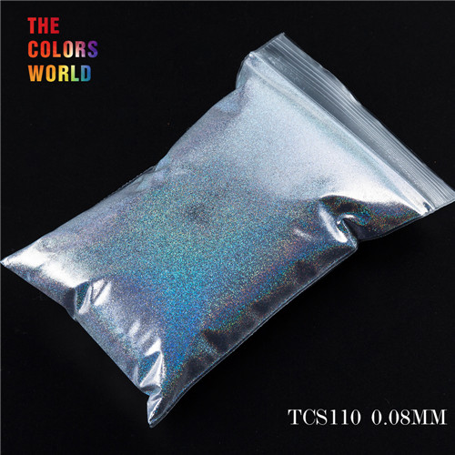 TCT-070 голографическая цветная устойчивая к растворению блестящая пудра для дизайна ногтей Гель-лак для ногтей тени для макияжа - Цвет: TCS110  50g