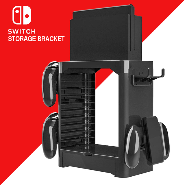 Nintend Switch NS Accessories Game Disc Storage Bracket Holder Tower for Nintendo Switch Joystick Carrying Stand  1