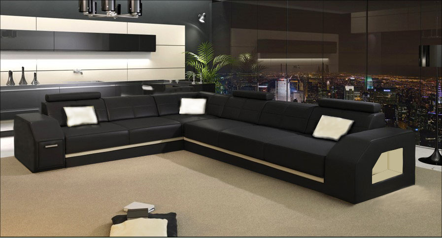 US $1398.0 |italian leather living room leather sofa modern furniture sofa  sets-in Living Room Sets from Furniture on AliExpress