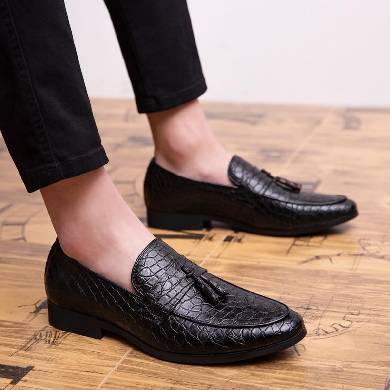 DXKZMCM 2019 Formal Shoes Men Pointed Toe Casual Wedding Party Liesure Dress Shoes Men Oxfords Drop Shipping