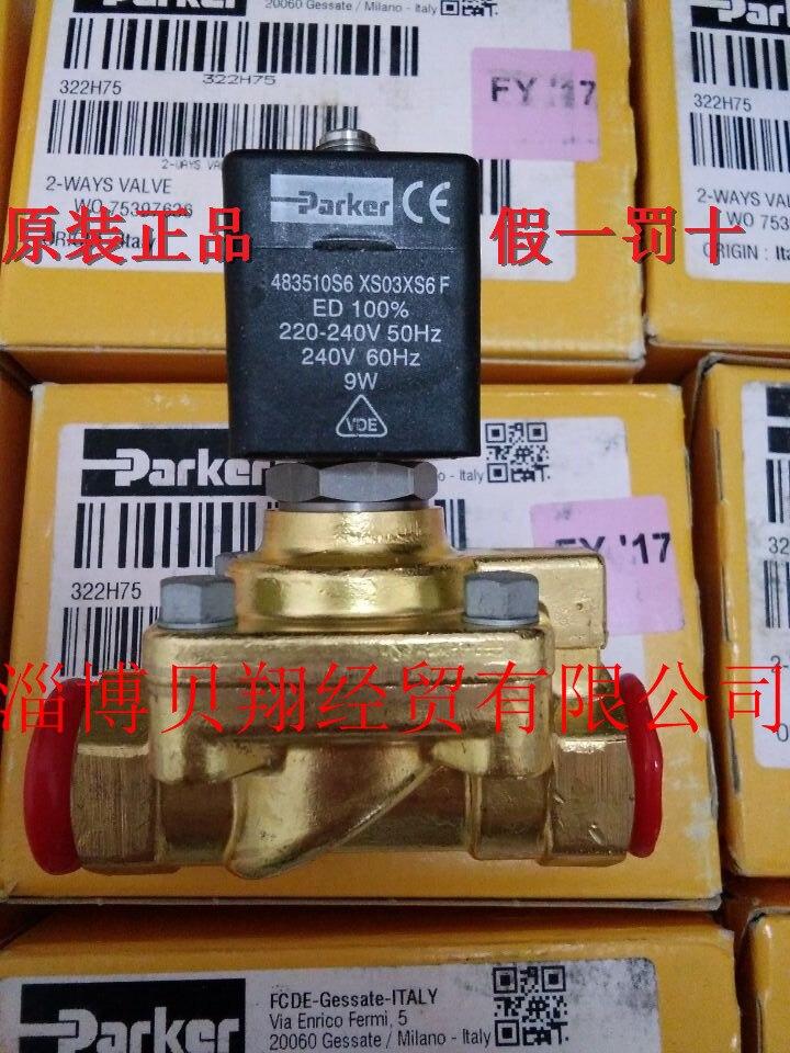 322H75 2995 483510S6 spot genuine Parker PARKER solenoid valve