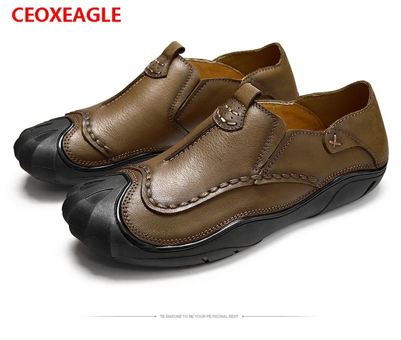 Printemps De Zapatos Mocassins Cuir Hommes Casual En Chaussures Automne Véritable Style Hombre Et khaki British Brown Appartements kXZTOwulPi